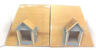 Miniature Dollhouse Dormer Windows With Roof Panel