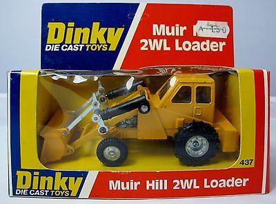 Original 1978 Dinky Toys 437 Muir Hill 2WL Loader - Taylor Woodrow - Boxed (3172