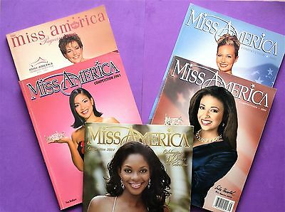 Miss America Programs- Lot of 5-2000-2004- 80th Anniversary Edition AUTOGRAPHED