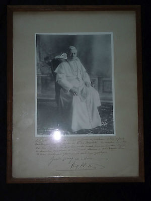 Saint Pope Pius X signed benediction - personally papal blessing - vatican relic