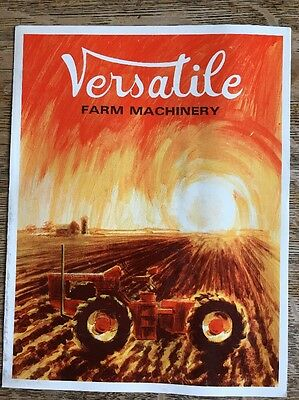 Vintage Versatile Farm Machinery Brochure Tractor Sales and Service Advertising