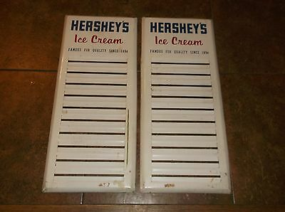 (2) Vintage Hershey's Ice Cream Store Parlor Menu Sign Signs Flavor Board