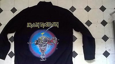 "Vintage Iron Maiden ""Can I Play With Madness"" button down shirt  - free size"