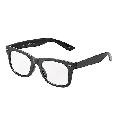 Black Clear Classic Style Kids Costume Glasses Perfect for Parties Hipsters Nerd