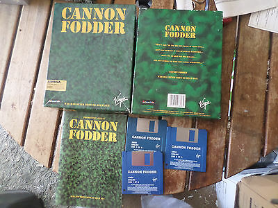 Cannon Fodder by Sensible Amiga boxed Game Good/fair Condition booted