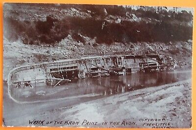 FRED LITTLE RP Postcard c.1910 WRECK OF KRON PRINZ IN THE AVON c.1890 BRISTOL
