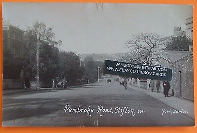 YORK SERIES RP Postcard c.1940 PEMBROKE ROAD CLIFTON BRISTOL