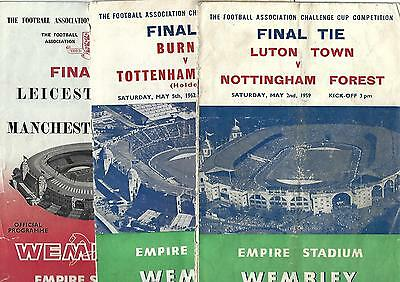 Collection of 21 FA Cup Final programmes 1959-1986 all listed
