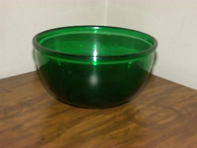 Vintage Anchor Hocking Charm Forest Green Small Mixing Bowl