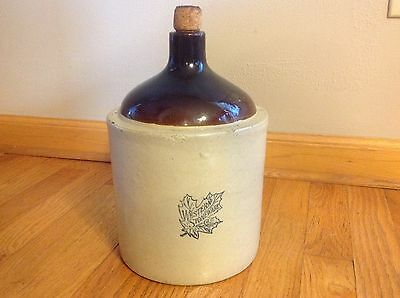 Vtg. Antique Collectible Western Stoneware 1 Gallon Whiskey Moonshine Crock Jug