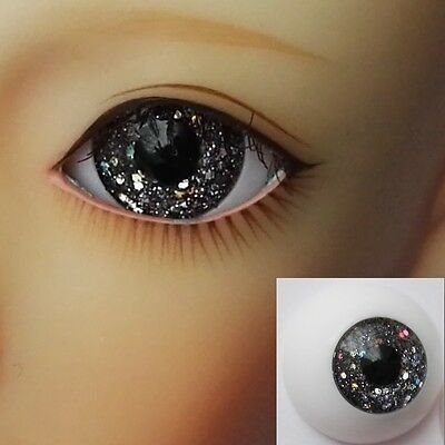 Glitter Dark Gray - BJD Eyes - 8mm 10 12 14 16 18 20 22 MSD SD13/10 Doll Dollfie