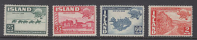 Iceland Sc 253 - 256 UPU 75th Anniversary Mint Never Hinged