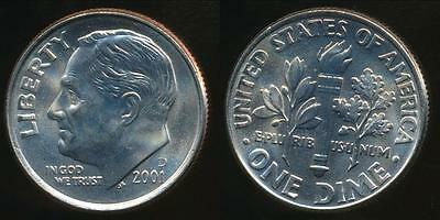 United States, 2001-D Dime, Roosevelt - Uncirculated