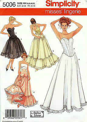 Simplicity Pattern S5006 Corset & Petticoat Sized to Fit My Size Barbie