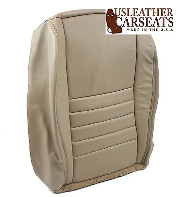1999 Ford Mustang GT V8 V6 Driver Side Bottom Replacement Leather Seat Cover Tan