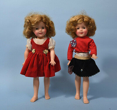 Two Vintage Ideal Shirley Temple Dolls