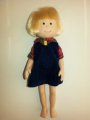 """Madeline Doll Eden Learning Curve  Friend Nicole 8"""" With Red Plaid Shirt Jumper"""