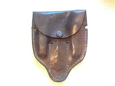 Vintage Boy Scouts BSA Geo. Schrade Knife &  Spoon Mess Kit in Leather LOT