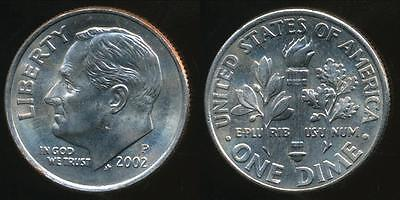 United States, 2002-P Dime, Roosevelt - Uncirculated