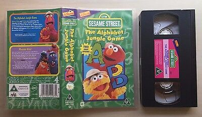 Ctw - Sesame Street - The Alphabet Jungle Game - Vhs Video