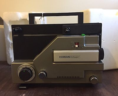 CHINON Whisper 727 Dual 8mm Variable Speed Silent-Movie-Projector-w-box-Mint