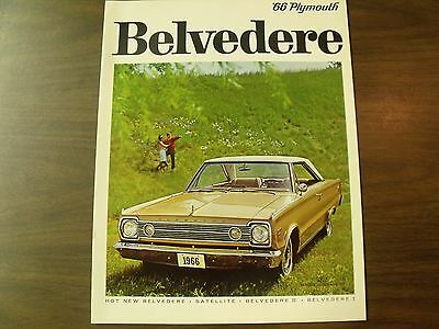 1966 Chrysler Plymouth Belvedere Satellite I II brochure 66 Canada Canadian NICE