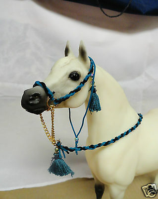 Arabian Halter for Breyer or Peter Stone Models--Blue & Black