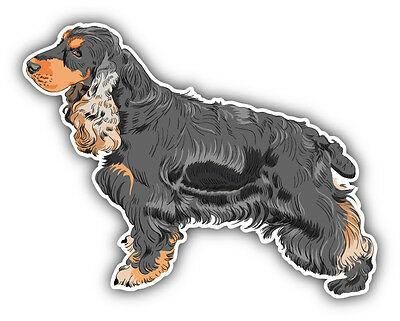 English Cocker Spaniel Breed Dog Car Bumper Sticker Decal 5'' x 4''