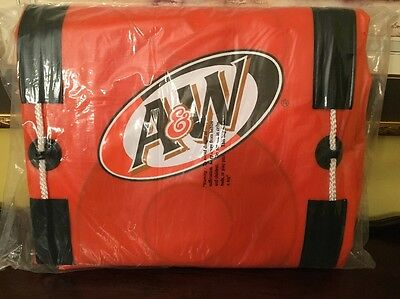 Vintage A&W ROOT BEER INFLATABLE ADVERTISING PROMOTIONAL RAFT- UnOpened