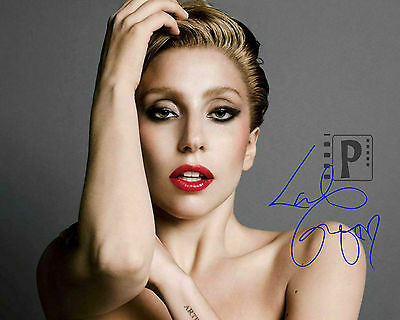 "Lady Gaga 10""x 8"" Great Signed Color PHOTO. REPRINT"