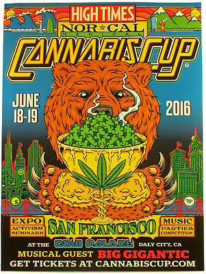 High Times NorCal Cannabis Cup 2016 Dane Holmquist Limited Edition Poster Print