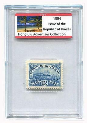 1894 12c ARAWA Stamp of the Republic of Hawaii - PROVENANCED COLLECTION - NICE