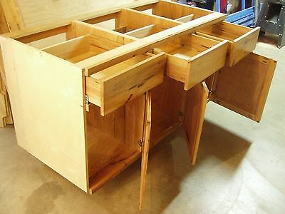 3 Units = 16Ft of Hickory Laboratory Base Cabinets, with Chemical Resistent Top