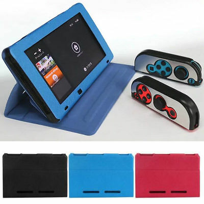 New For Nintendo Switch 2017 Premium PU Leather Slim Fit Play Case Stand Cover