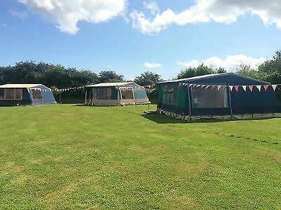 Cornwall Glamping Camping Holiday  Static Euro Tent Sleep 6 ***email An Offer***