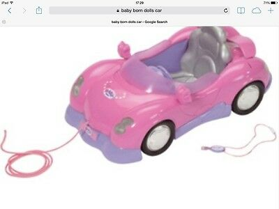 Baby Born Dolls Coupe Car Pink / Also Suitable For Baby Annabell Doll