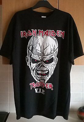 Iron Maiden Trooper VIP T Shirt Tee XL Book of souls tour 2017