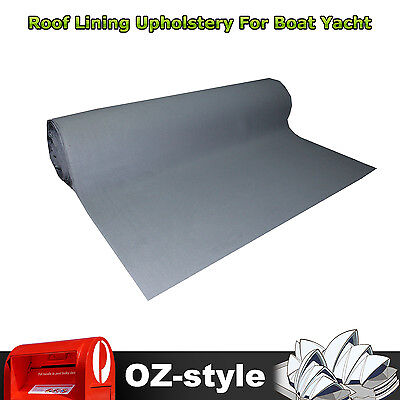 Marine Yacht Boat Top Roof Headliner Upholstery Grey Gray 1.5M x 8M Foam Lining