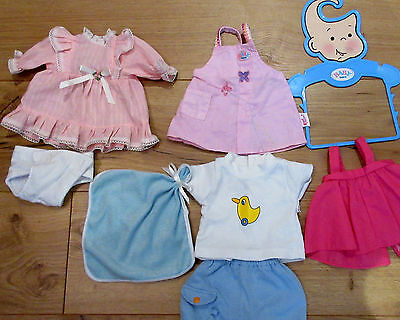 baby Born clothes Girls boys Dolls  Bundle outfits shorts dress CLEAN USED ONCE