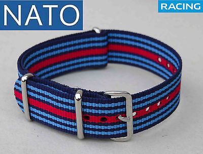 BRACELET MONTRE NATO 22mm (MARTINIracing) orologio reloj cinturino pulsera watch