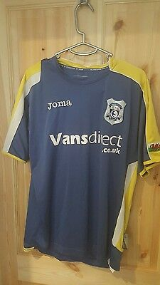 Cardiff City FC Football Shirt Joma Small