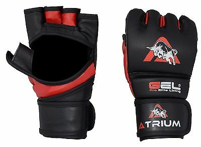 Atrium Authentic Rex Leather MMA Grappling Gloves UFC Boxing Punch Bag Sparring