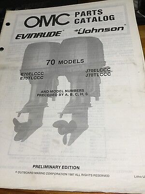 OMC Evinrude Johnson parts catalog (1988) - 70 hp models