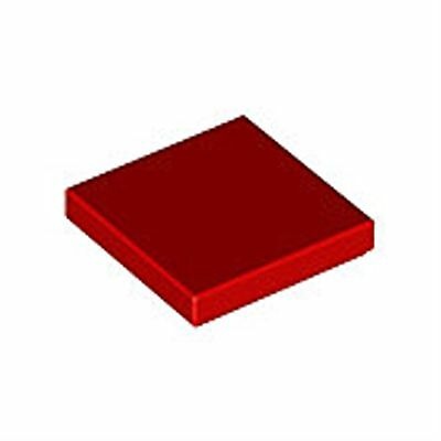 Lego parts - flat tile 2x2 red (#306821) pack of 20