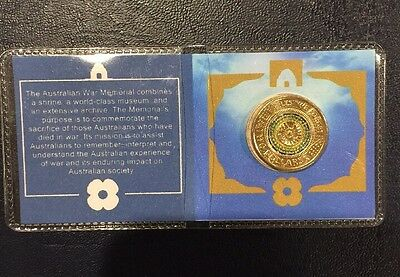 2017 $2 Anzac Lest We Forget Coin in Presentation Flip Uncirculated