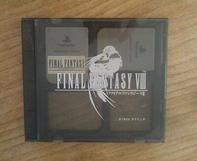 Memory Card Case FINAL FANTASY VIII 8 - Playstation PS - HORI + 2 Cartes Mémoire