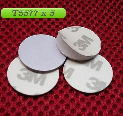 RFID T5577 125KHZ X 5 (Pack of 5)  key Rewritable 3M coin read write