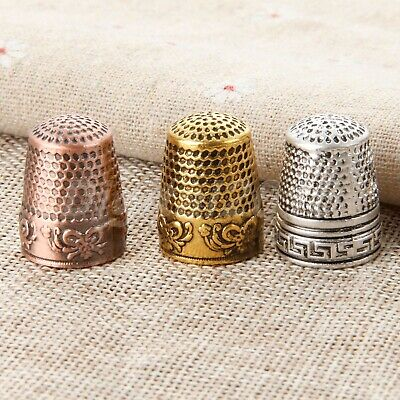 1X Metal Finger Thimble Sewing Grip Shield Protector For Pin Needle Tailor Use