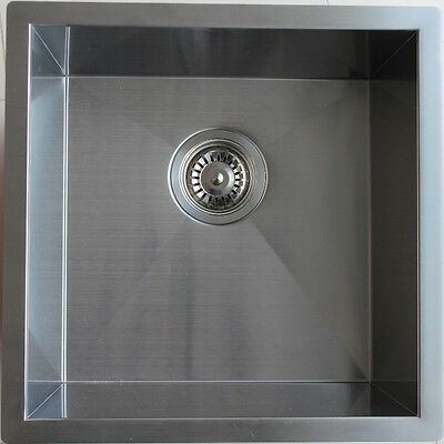 #304 Handmade Stainless Steel Kitchen Sink / Laundry Tub (440mm x 440mm x 230mm)