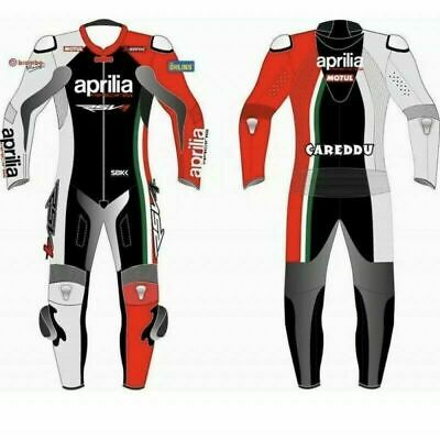 New Aprilia Motorcycle Motorbike Racing Leather Motogp Riding Suit